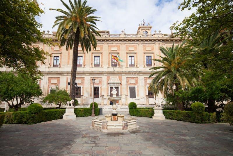 Algemeen Archief van Brits-Indië in Sevilla stock afbeeldingen