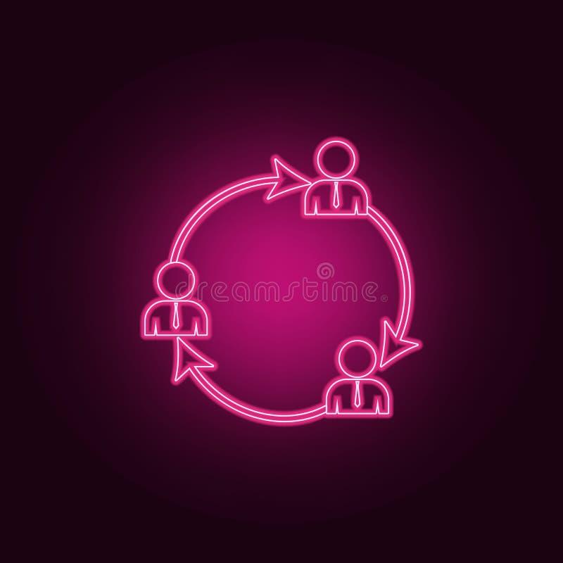 algemeen bedrijfscontactenpictogram Elementen van Gesprek en Vriendschap in de pictogrammen van de neonstijl Eenvoudig pictogram  royalty-vrije illustratie