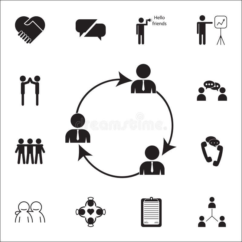 algemeen bedrijfscontactenpictogram Gesprek en Vriendschaps voor Web wordt geplaatst dat en mobiel pictogrammenalgemeen begrip vector illustratie