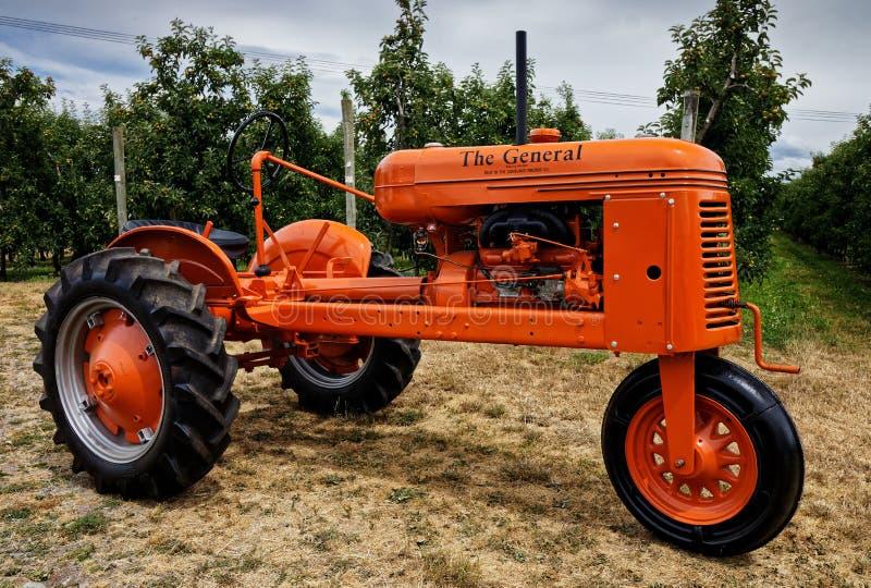 Algemeen, drie reed tractor van hersteld Cleveland Tractor Company, stock afbeelding