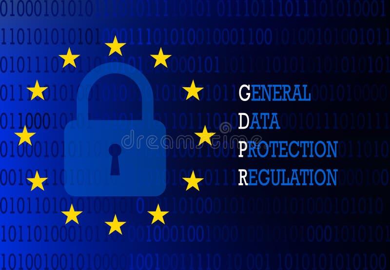Algemeen gegevensbeschermingregelgeving teken vector illustratie