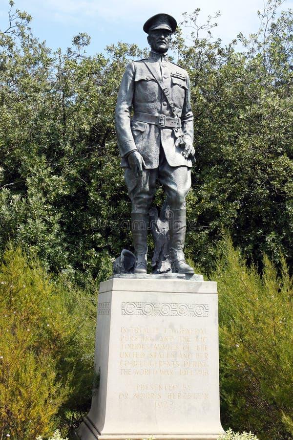 Algemeen John Pershing-standbeeld dichtbij het DeYoung-museum in Golden Gatepark royalty-vrije stock afbeelding