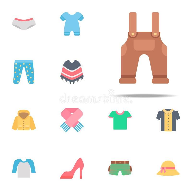 Algemeen kleurenpictogram Voor Web wordt geplaatst dat en het mobiele algemene begrip van klerenpictogrammen stock illustratie