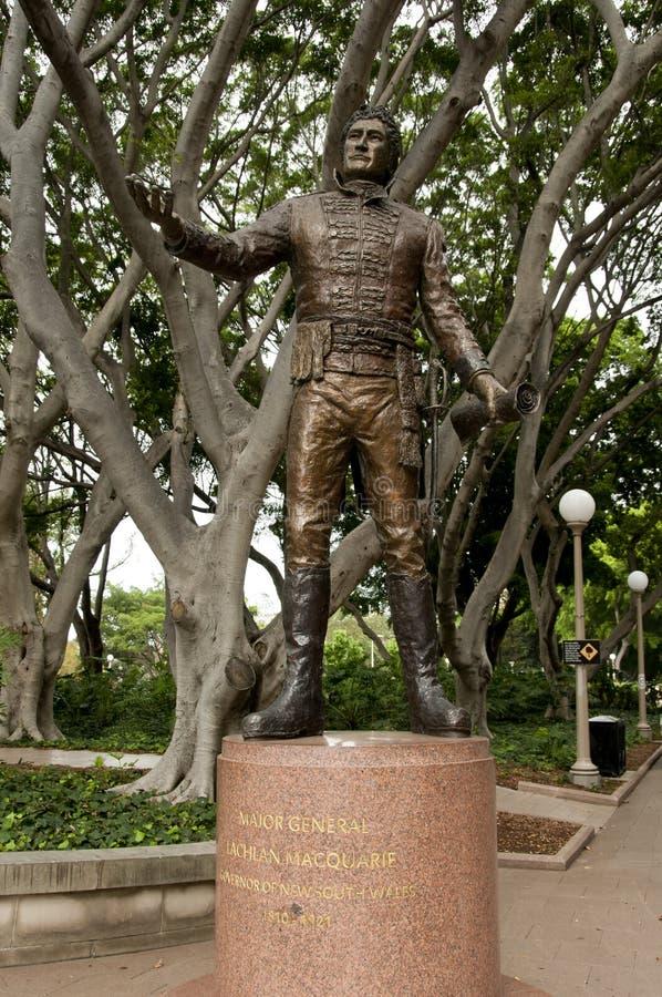 Algemeen Lachlan Macquarie Statue royalty-vrije stock foto
