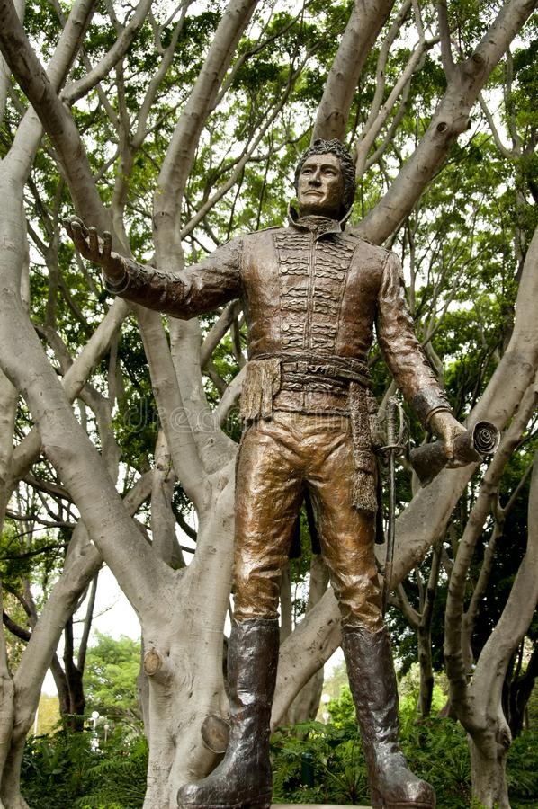 Algemeen Lachlan Macquarie Statue stock foto