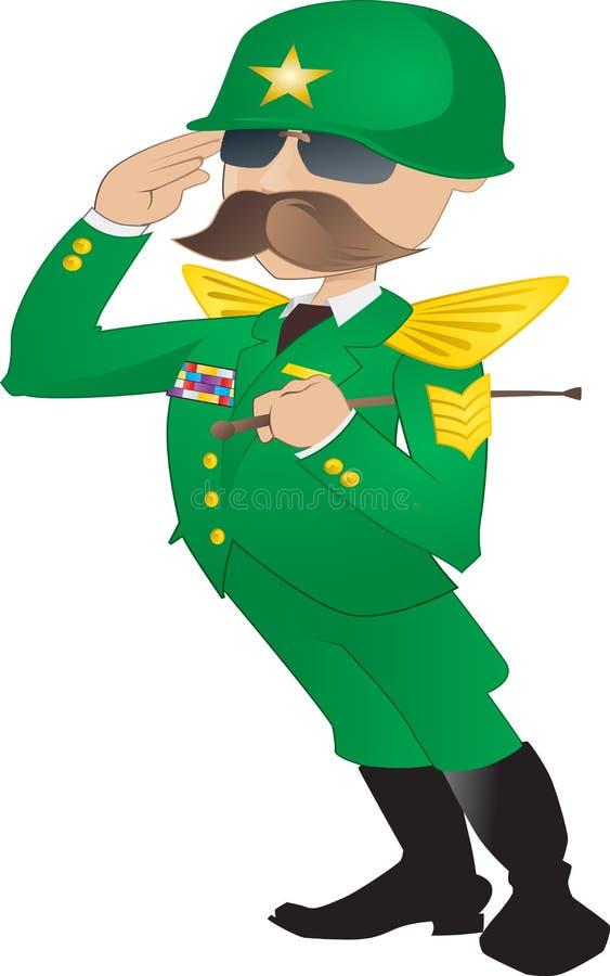 Algemeen leger royalty-vrije illustratie