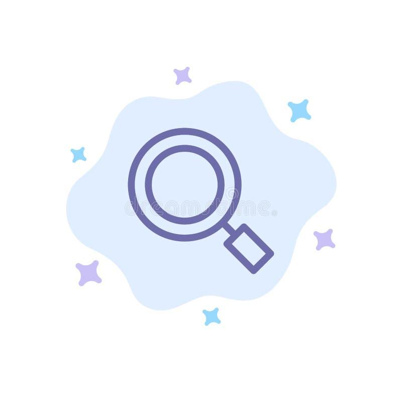 Algemeen, Magnifier, overdrijf, zoek Blauw Pictogram op Abstracte Wolkenachtergrond stock illustratie