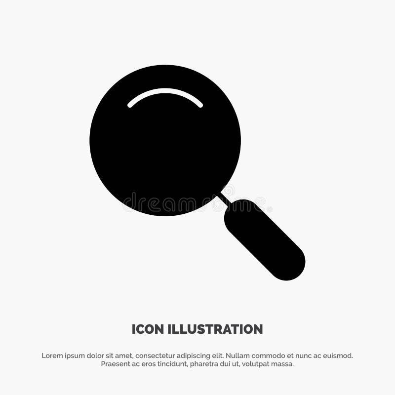 Algemeen, Magnifier, overdrijf, zoek stevige Glyph-Pictogramvector vector illustratie
