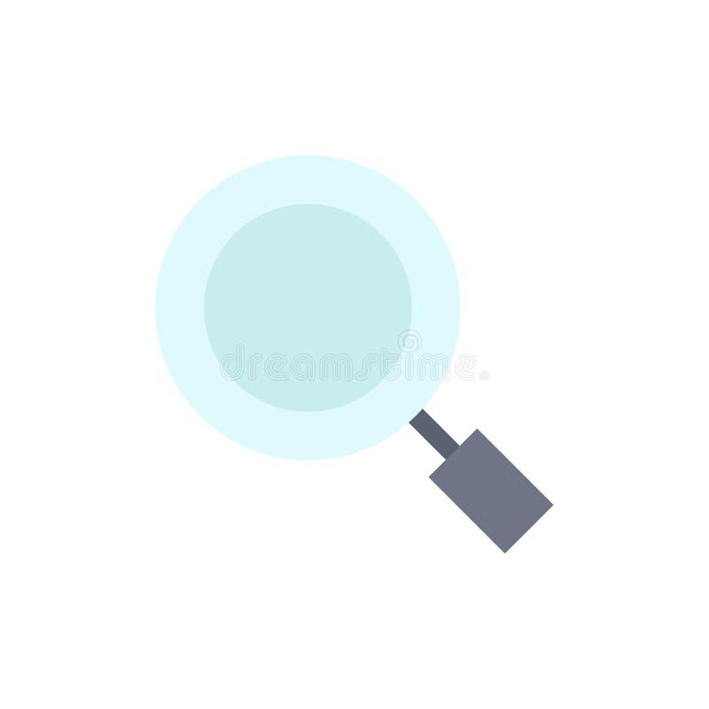 Algemeen, Magnifier, overdrijf, zoek Vlak Kleurenpictogram Het vectormalplaatje van de pictogrambanner stock illustratie