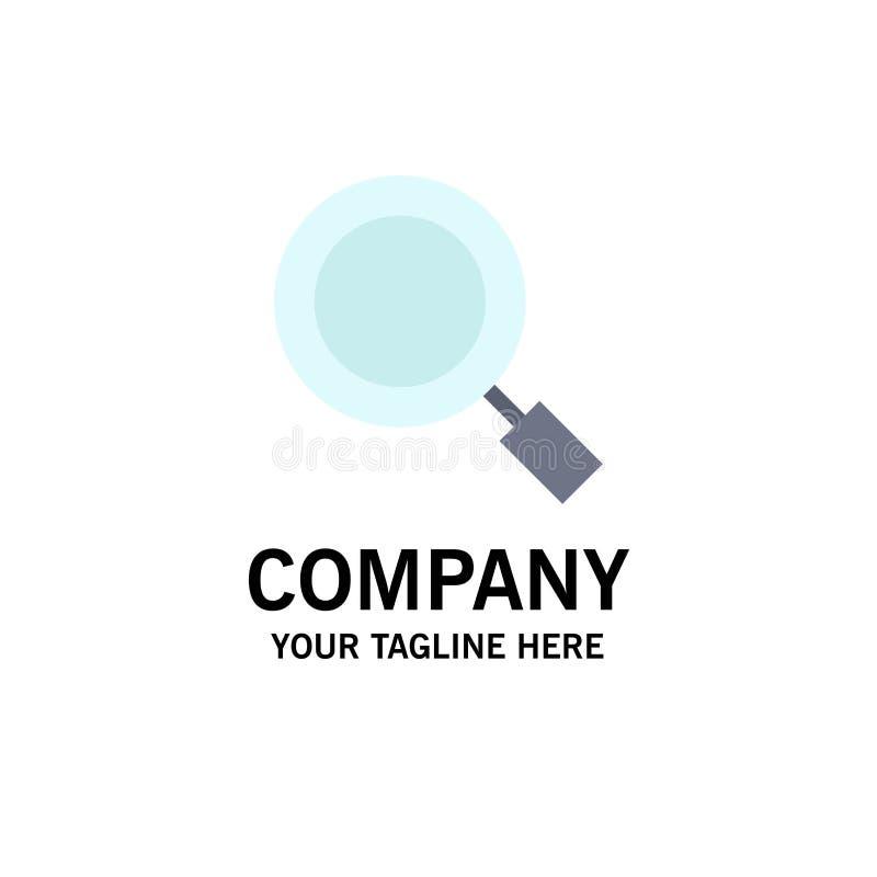 Algemeen, Magnifier, overdrijf, zoek Zaken Logo Template vlakke kleur vector illustratie