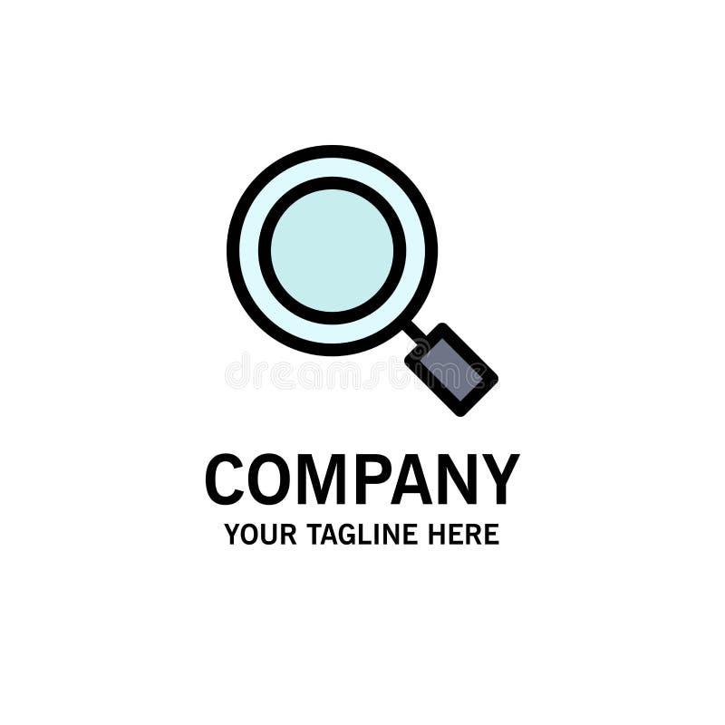 Algemeen, Magnifier, overdrijf, zoek Zaken Logo Template vlakke kleur stock illustratie