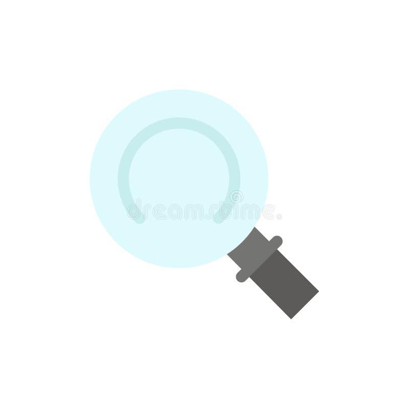 Algemeen, Magnifier, zoek Vlak Kleurenpictogram Het vectormalplaatje van de pictogrambanner vector illustratie