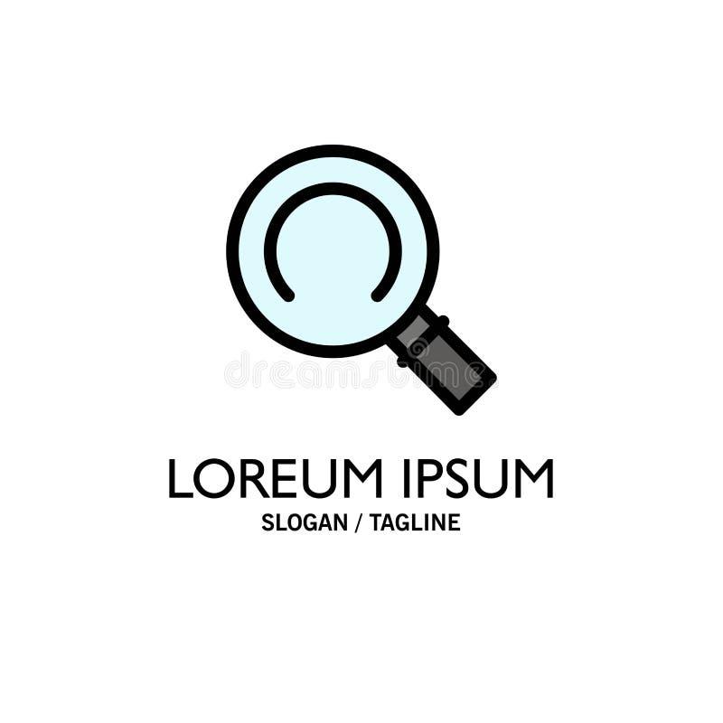 Algemeen, Magnifier, Zoekenzaken Logo Template vlakke kleur vector illustratie