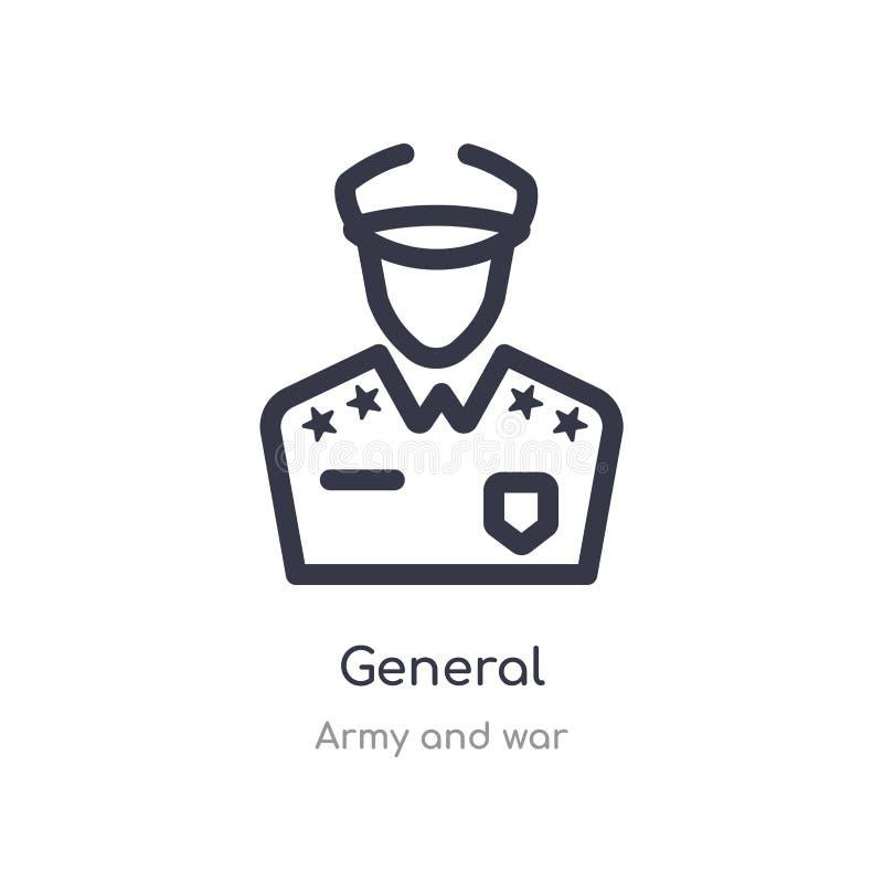 algemeen overzichtspictogram ge?soleerde lijn vectorillustratie van leger en oorlogsinzameling editable dun slag algemeen pictogr vector illustratie
