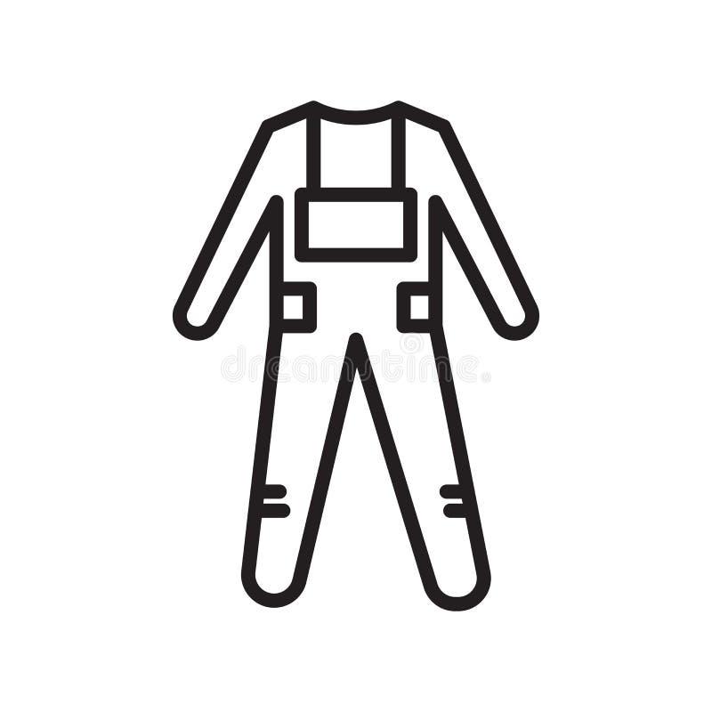 Algemeen pictogram vectordieteken en symbool op witte achtergrond, Algemeen embleemconcept, overzichtsknop, lineair teken, overzi stock illustratie