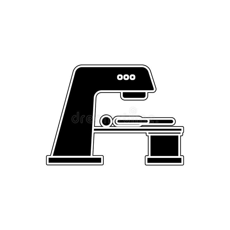 algemeen x-ray pictogram Element van geneeskunde voor mobiel concept en webtoepassingenpictogram Glyph, vlak pictogram voor websi stock illustratie