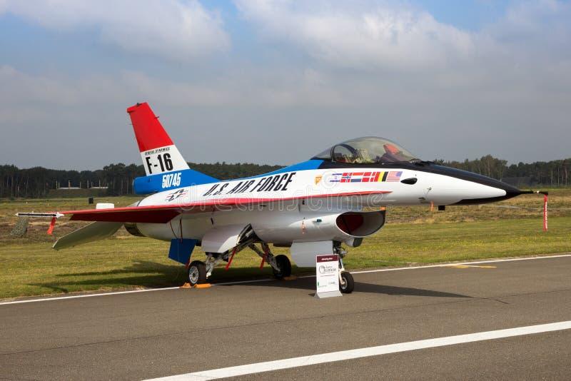 Algemene Dynamica F-16AM het Vechten Valk royalty-vrije stock foto