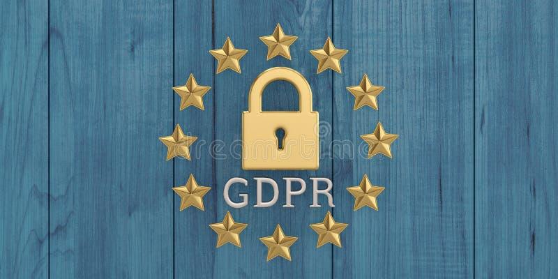 Algemene gegevensbeschermingregelgeving, de bescherming van persoonlijke D royalty-vrije stock foto