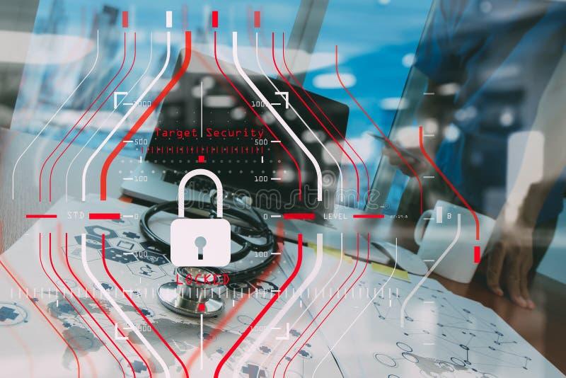Algemene Gegevensbeschermingverordening (GDPR) en Veiligheidsconcept C royalty-vrije stock afbeelding