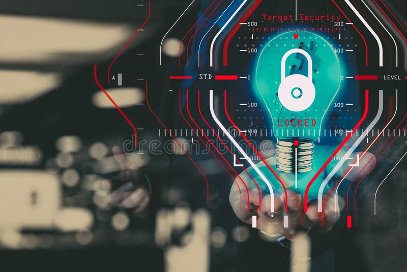 Algemene Gegevensbeschermingverordening GDPR en Veiligheidsconcept C stock afbeeldingen