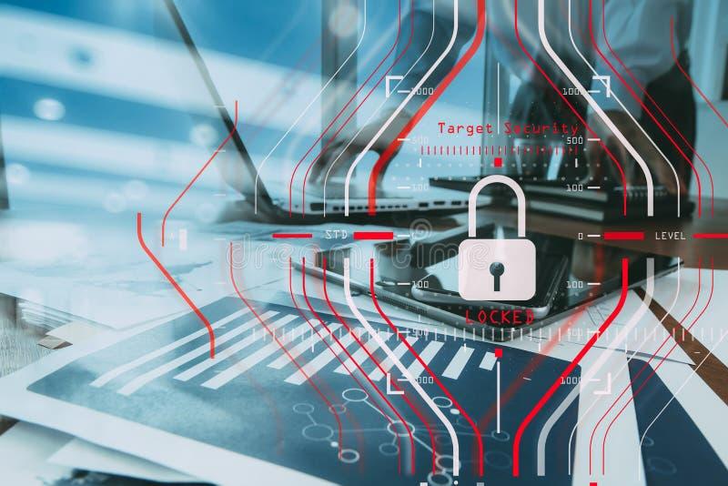 Algemene Gegevensbeschermingverordening GDPR en Veiligheidsconcept C royalty-vrije stock afbeelding