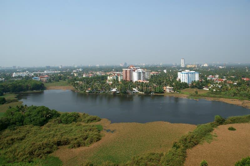 Algemene mening van de stad, Cochin (kochi) royalty-vrije stock fotografie