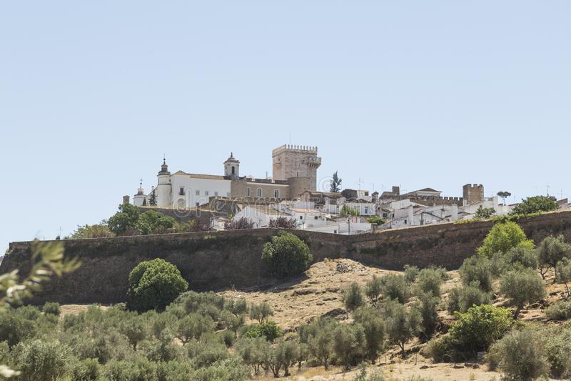 Algemene mening van Estremoz, Portugal, Europa royalty-vrije stock foto's