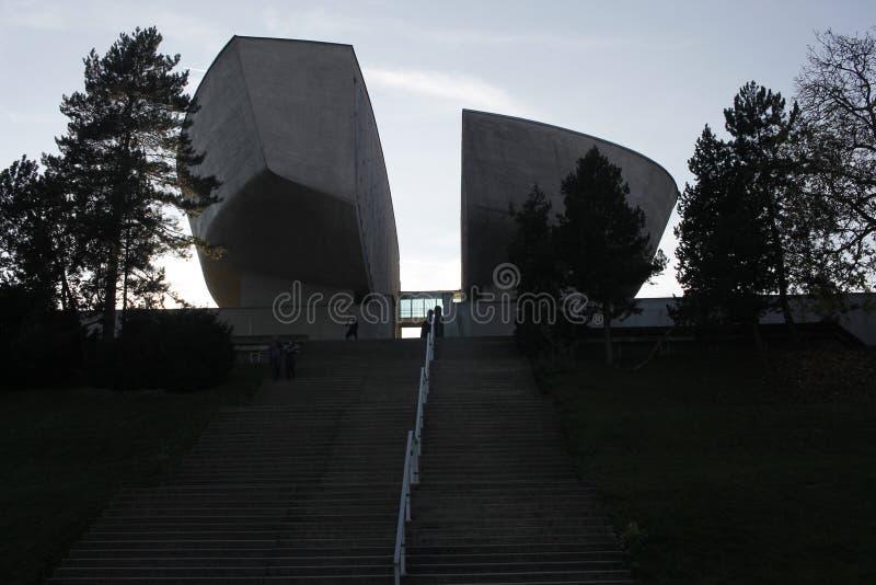 Algemene mening van het Museum van Slowaakse Nationale Opstand stock fotografie