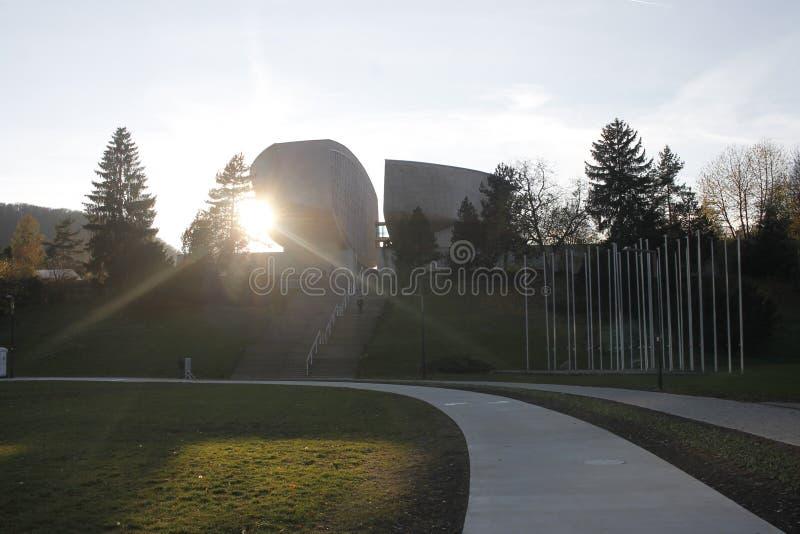 Algemene mening van het Museum van Slowaakse Nationale Opstand royalty-vrije stock foto