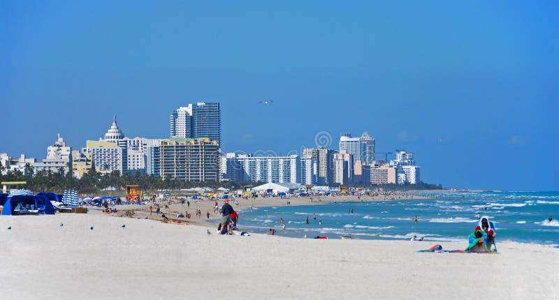 Algemene mening van het strand van Miami, Florida royalty-vrije stock fotografie