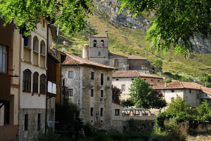 Algemene mening van Pancorbo, Burgos, Spanje royalty-vrije stock foto's