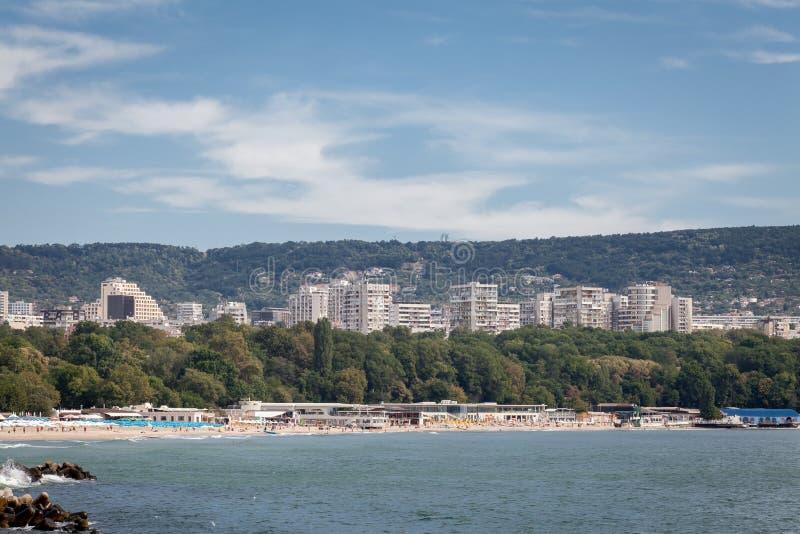 Algemene mening van Varna, Bulgarije stock afbeeldingen