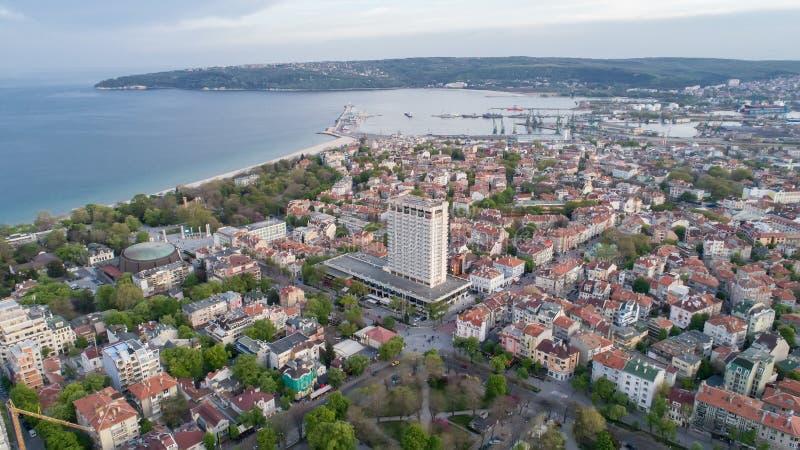 Algemene mening van Varna, de overzeese hoofdstad van Bulgarije stock afbeelding