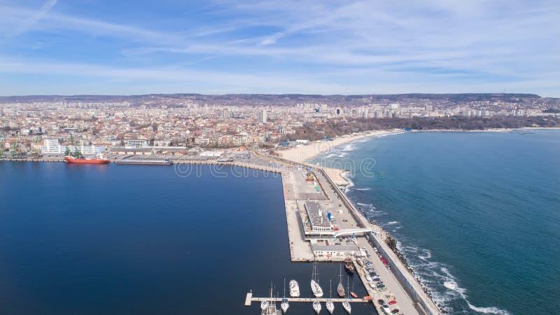 Algemene mening van Varna, de overzeese hoofdstad van Bulgarije royalty-vrije stock foto's