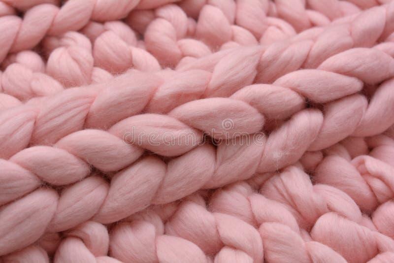 Algemene, merinos gebreid wol met de hand gemaakt royalty-vrije stock foto's