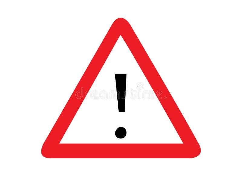 Algemene waarschuwingsbordvector vector illustratie
