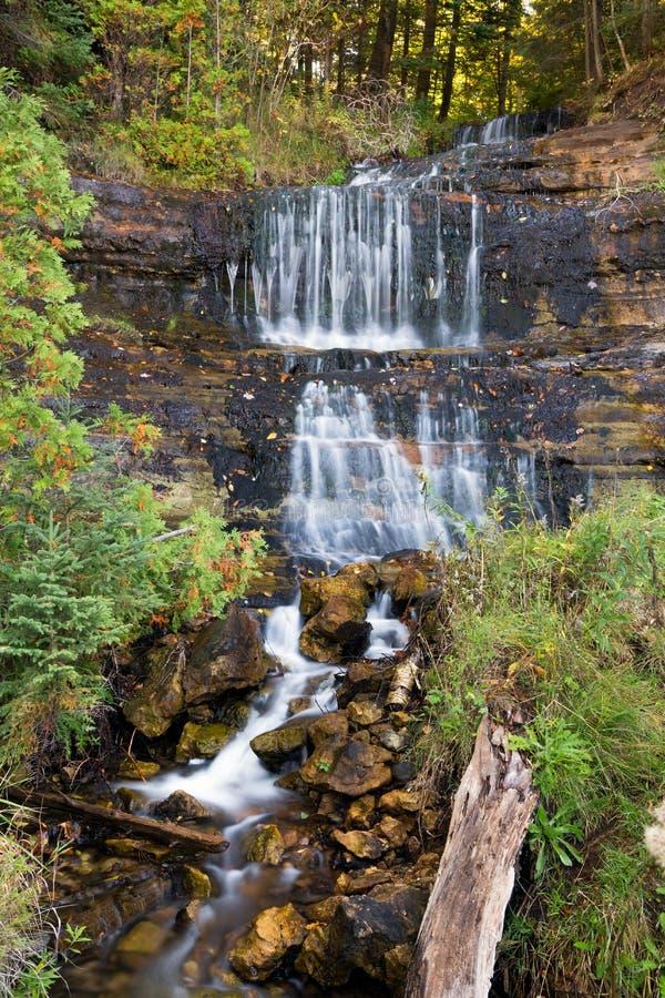 Alger Falls in Munising, Michigan lizenzfreies stockbild