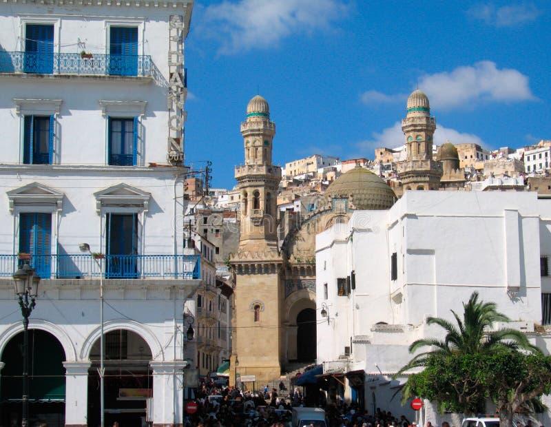 algeria Algiers stolicy kraju meczet zdjęcie royalty free