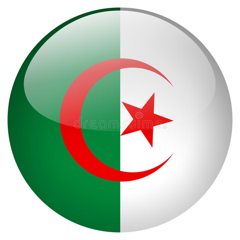 Algeria Button royalty free illustration