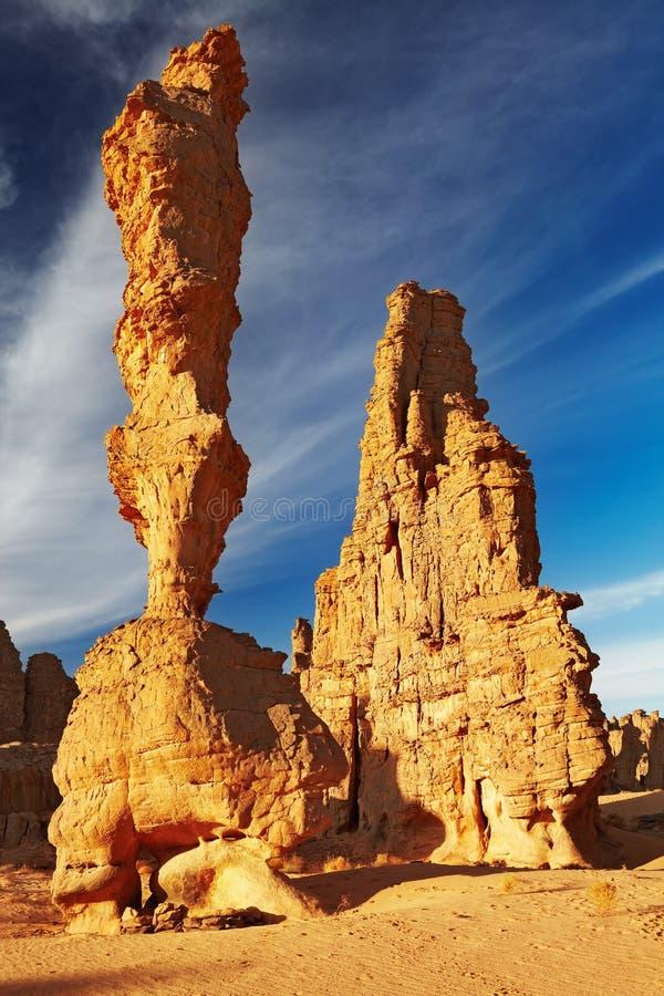 algeria falez pustynny Sahara piaskowiec zdjęcia royalty free