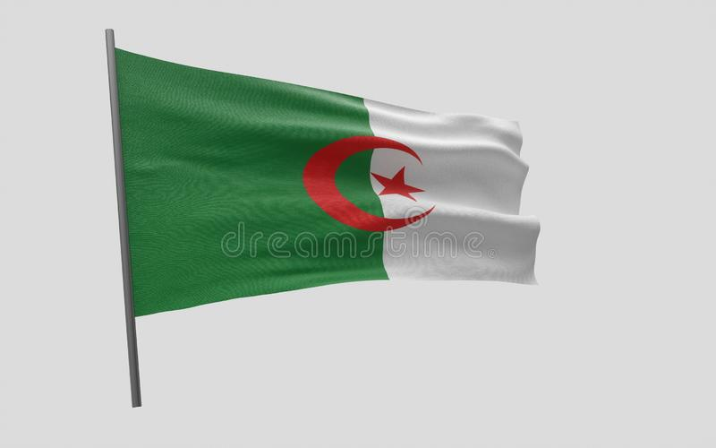 algeria flagga stock illustrationer
