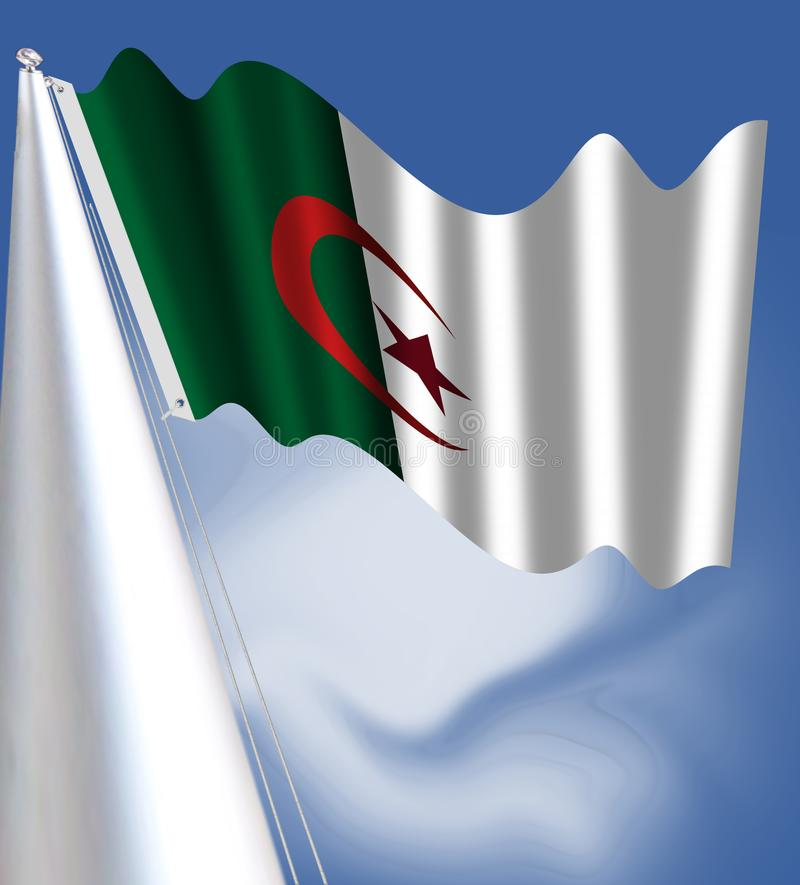 algeria flagganational royaltyfri illustrationer