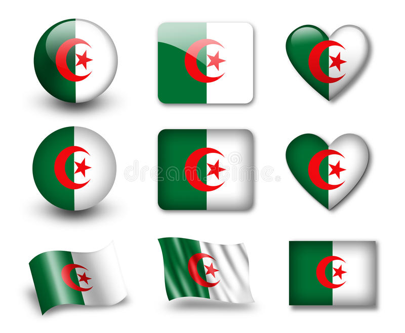 The Algerian flag royalty free illustration