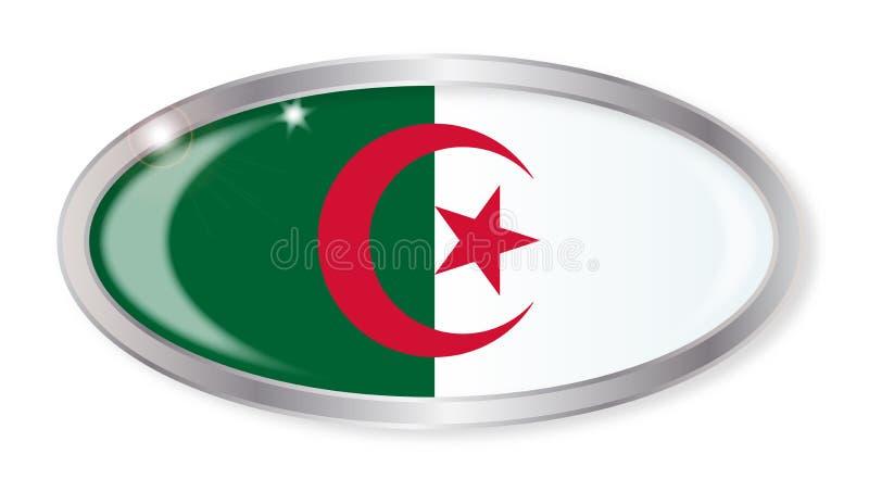 Algerian Flag Oval Button stock illustration