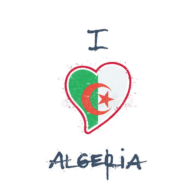 Algerian flag patriotic t-shirt design. stock illustration