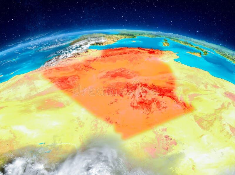 Algerien auf Erde stock abbildung