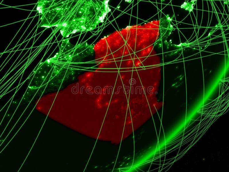 Algerien auf grüner Erde lizenzfreie abbildung