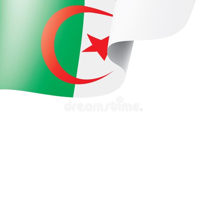 Algeriet flagga, vektorillustration på en vit bakgrund vektor illustrationer