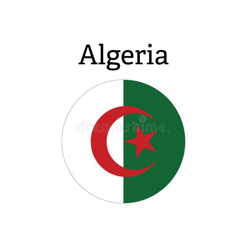 Algeriet flaggasymbol royaltyfri illustrationer