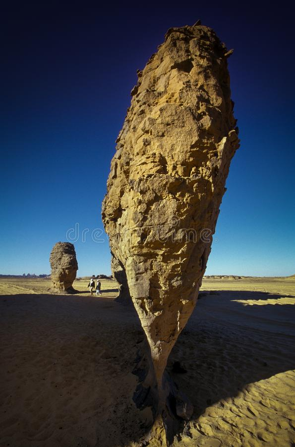 Algeriet Tassili N 'Ajjer nationalpark - Afrika royaltyfri bild
